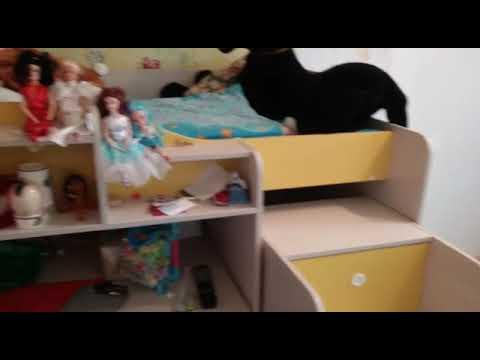 Кровать чердак Леон для школьников