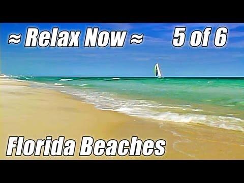 FLORIDA BEACHES #5, Best Panama City, Pensacola, Navarre Beach Ocean Waves Sounds Relaxation Video