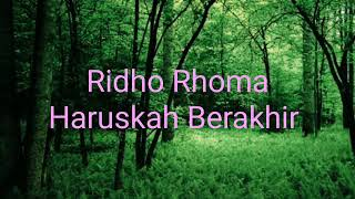 Video Ridho Rhoma Haruskah Berakhir karaoke dan lirik download MP3, 3GP, MP4, WEBM, AVI, FLV November 2018