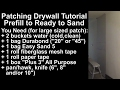 Drywall Patches from Start to Skim (With Additional Useful Information)
