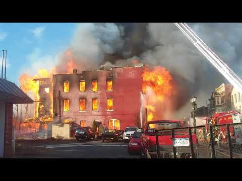 Fire Destroys Several Buildings