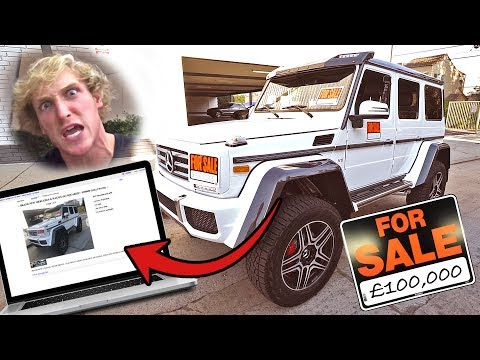 I PUT MY BROS NEW CAR UP FOR SALE **HE FREAKED**