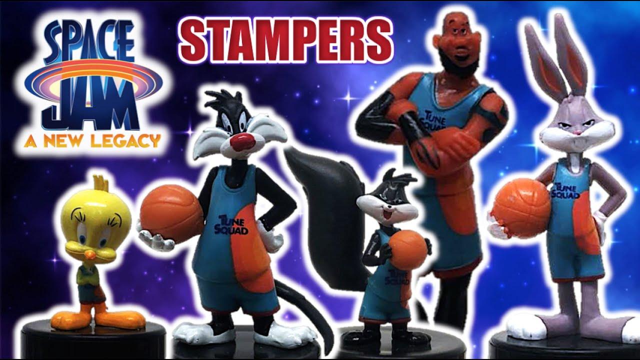 SPACE JAM 2 - Figuras Stampers Pack #1 | PENELOPE, Silvestre, Piolín, Bugs Bunny, Lebron - TOY SHOTS