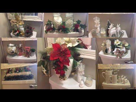 CHRISTMAS 2019🎄 Small Bathroom Decor Ideas | Decor Inspiration | Decorate with me