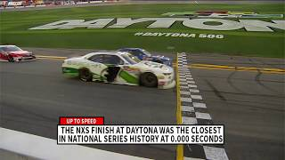 Powershares Qqq 300 Ends In Tightest Finish In Nascar Nation Series History