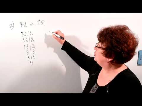 Как определить наименьшее общее кратное чисел