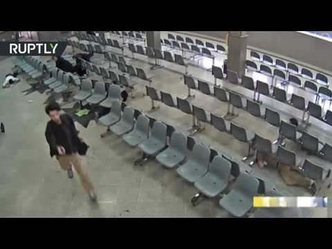 GRAPHIC: Moment of terror attack on Iranian parliament captured on CCTV