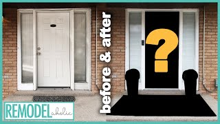 Front Porch Makeover with Painted Front Door and Spring Decor