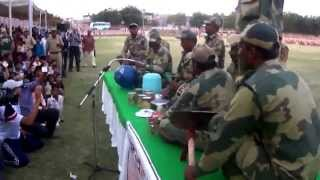 Orchestra by Border Security Force (BSF), India with different instruments