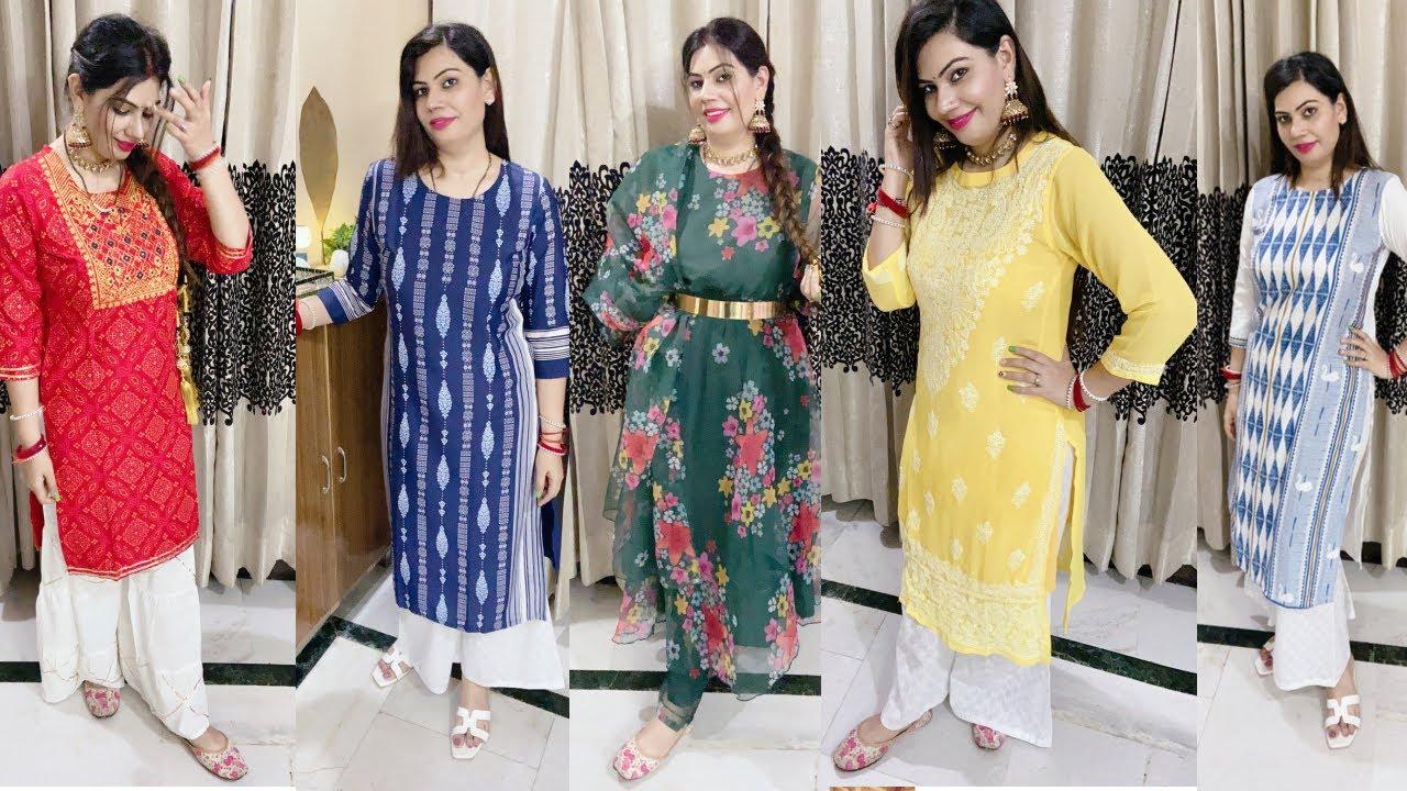 Teej n festival shopping haul Meesho kurti n suit haul strarting only 266₹