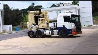 Usina de Asfalto modelo Voyager 120 Astec Inc - Conjunto Tambor/Misturador