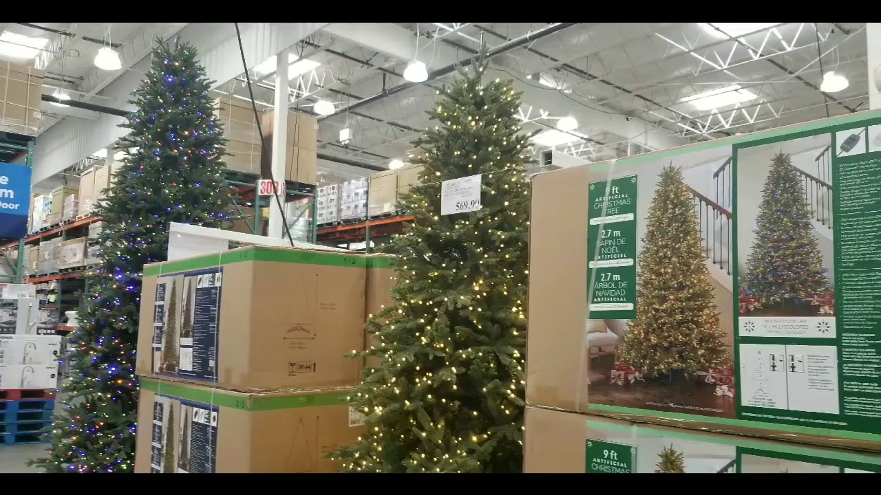 Costco Christmas Trees 2021 Costco Pre Lit Christmas Tree With Led Lights 12ft 899 9 Ft 569 7 5 Ft 299 Youtube