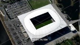 Stadionbaus der Volkswagen Arena in Wolfsburg im Bundesland Niedersachsen