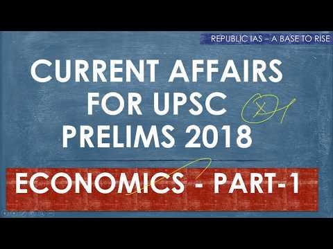 TAMIL-IMPORTANT CURRENT AFFAIRS FOR UPSC PRELIMS 2018-ECONOMICS PART -1