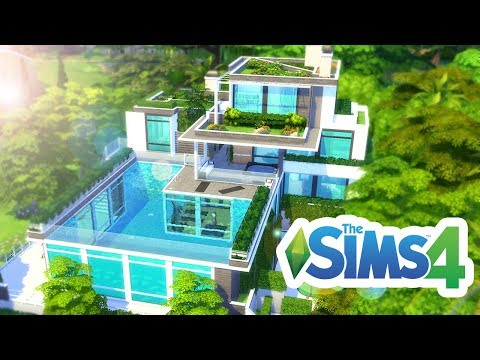 � AMAZING FOREST POOL HOUSE! 💚 The Sims 4 Build 💚