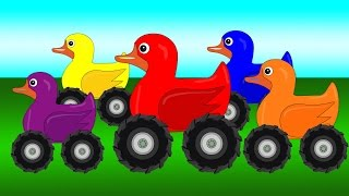 Garbage Trucks Teaching Colors - Learning Basic Colors Video for Kids