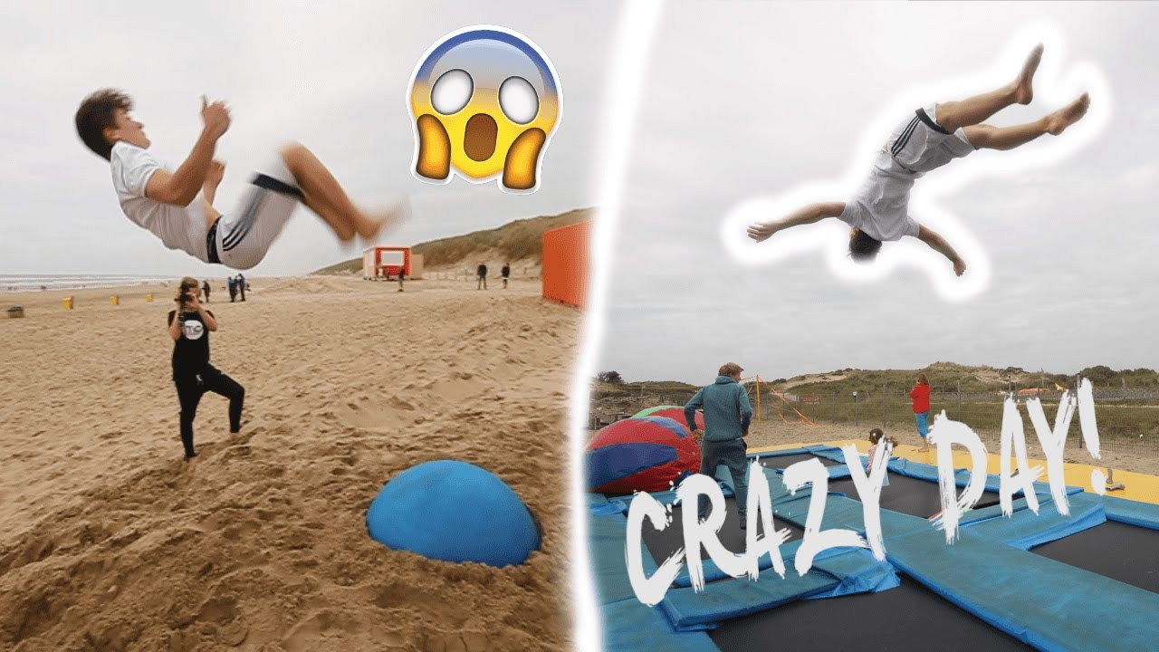 43ac19319d45 SPAMMING DOUBLE BACKFLIPS AT THE BEACH!   INSANE FLIPS  - YouTube