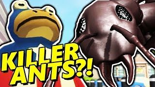 GIANT KILLER ANTS?! | Amazing Frog ADVENTURES (Survive the Secret Ant Arena)