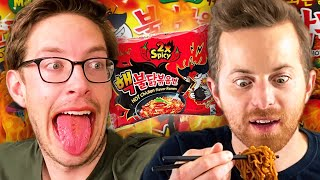 The Try Guys Korean FIRE Noodle Challenge