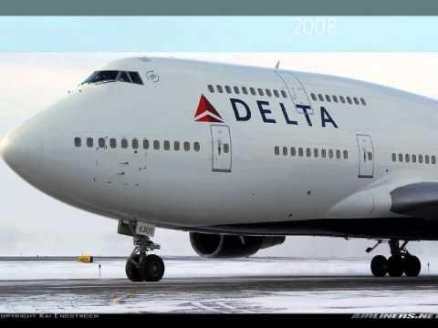 United/Continental-American-Delta B747 1970-2011