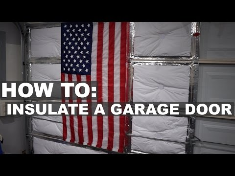 How to insulate a garage door for your garage gym youtube
