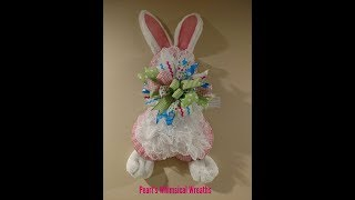 How to Make the Pearl Bunny Wreath Tutorial