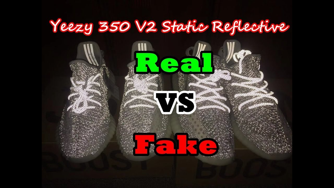9c44488dcd264 Real VS Fake Yeezy 350 V2 Static 3M Reflective Review - YouTube