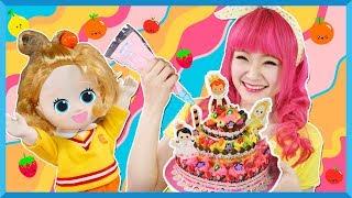 DIY Membuat dan menghias kue dari clay   Carrie Clay Bakery   Mainan anak   Kids Toys