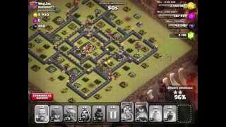 CLASH OF CLANS - EPIC 3 STAR RAID USING HOGS IN CLAN WARS + ANOTHER 2 STAR RAID WITH GOWIWIPE