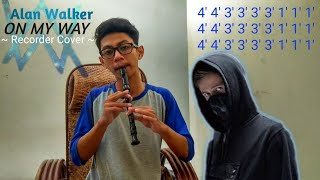 NOT ANGKA | Alan Walker - On My Way (PUBG) recorder cover
