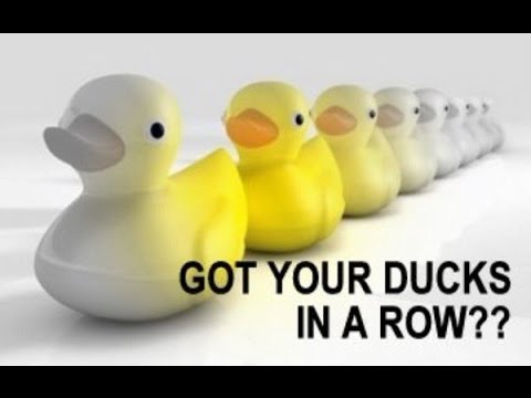 the problem with lining up all your ducks in a row youtube
