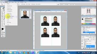 How to Make Passport Size Photo in 4R size with Photoshop