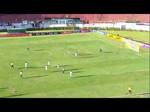 Gols Botafogo 2x1 santa cruz - brasileirão 2016