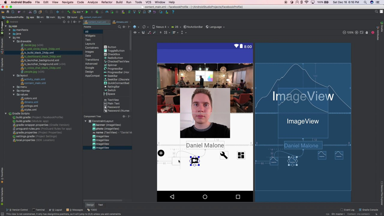 Recreate Facebook in Android Studio: Profile Page (Day 1)