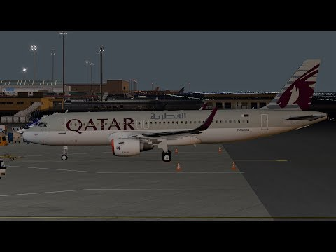 X-Plane 11 - A320 from Doha to Abu Dhabi (Realistic Flight)