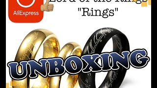 [2016] ALIEXPRESS UNBOXING #3 - The Lord of the Rings 18k