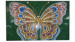 Бабочка. Рисунок -картина на стену. Точечная роспись. Мастер класс.