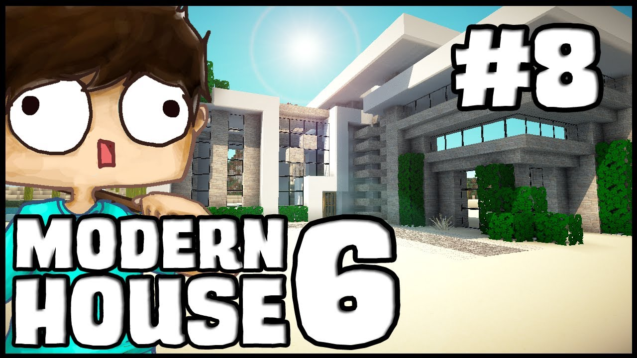 Minecraft lets build modern house 6 part 8 youtube for Modern house 8 part 6