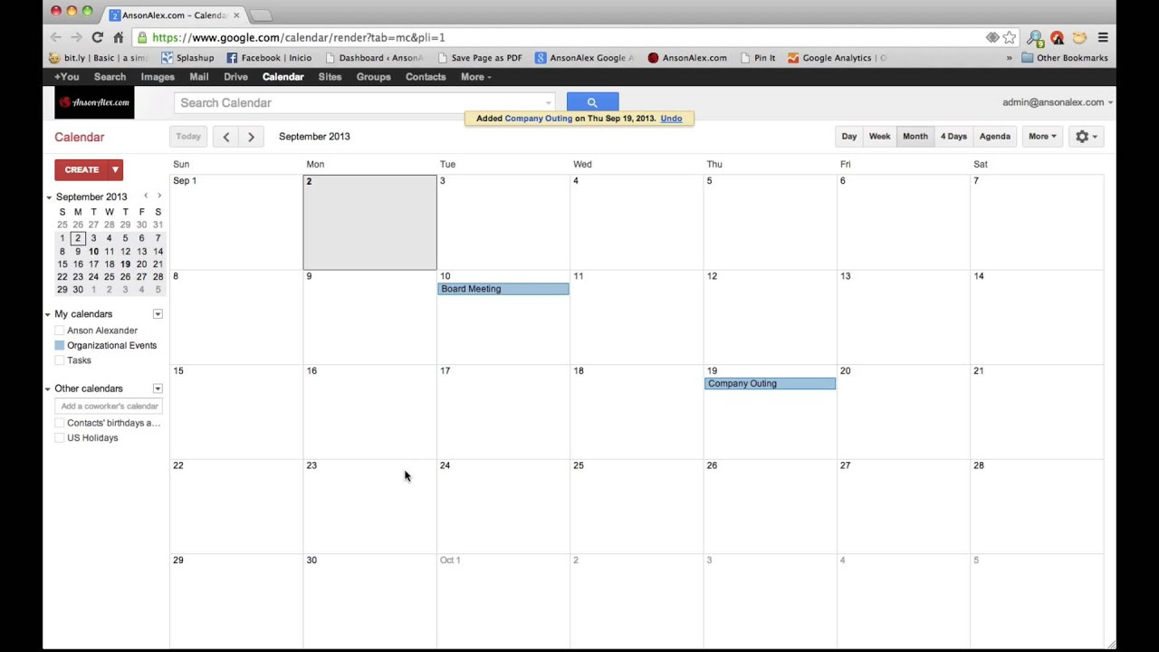 Add Multiple Calendars To Google Calendar Create A New Calendar Calendar Help Google Support Google Calendar Tutorial 2013 Sharing Calendars Youtube