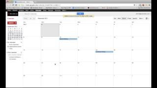 Google Calendar Tutorial 2013- Sharing Calendars