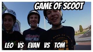 game of scoot: LEO vs EVAN vs TOM