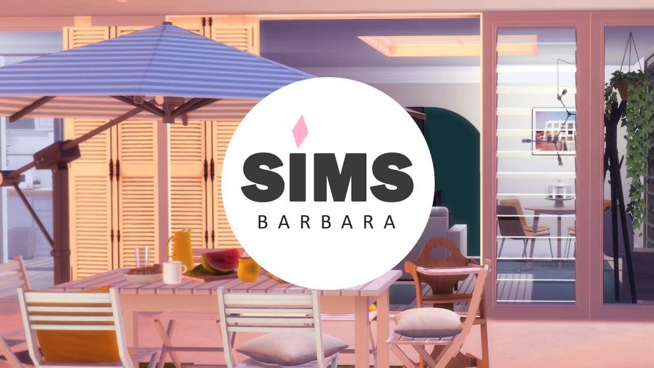 SIMS 4 | SMALL FAMILY MODERN YELLOW VACATION HOME | DL + CC | STOP MOTION