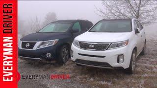 Off-Road Challenge: 2014 Nissan Pathfinder vs 2014 Kia Sorento on Everyman Driver