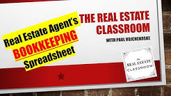 Real Estate Agent Bookkeeping Spreadsheet