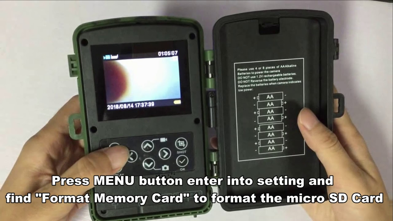 How To Plug In And Format Micro Sd Card When Using Toguard H45 Trail Camera