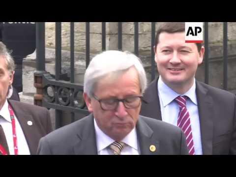Merkel and European People's Party heads arrive