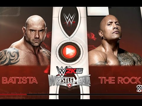 The Rock vs Batista: WWE Wrestlemania 32|...