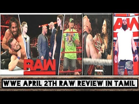 WWE April 2th RAW Review In Tamil/World Wrestling Tamil thumbnail