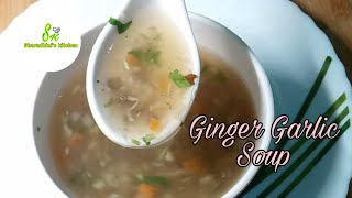 Ginger Garlic Soup/soup for cough and weight loss/Sharadhini's kitchen