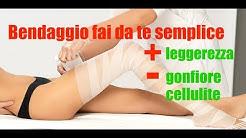 BENDAGGI gambe FAI DA TE anticellulite, per gambe gonfie e stanche | cause e rimedi ricetta semplice